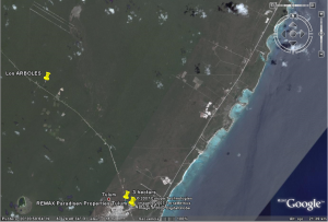 Tulum Airport Satellite Image